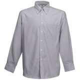 "Рубашка ""Long Sleeve Oxford Shirt"", светло-серый - 172975"