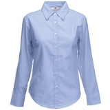 "Рубашка ""Lady-Fit Long Sleeve Oxford Shirt"", светло-голубой - 172974"